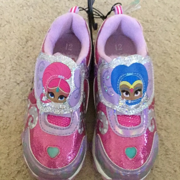 Shimmer shine girls light sneakers